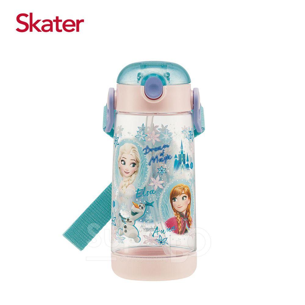 日本 SKATER - 兒童PET吸管水壺(480ml)-冰雪奇緣