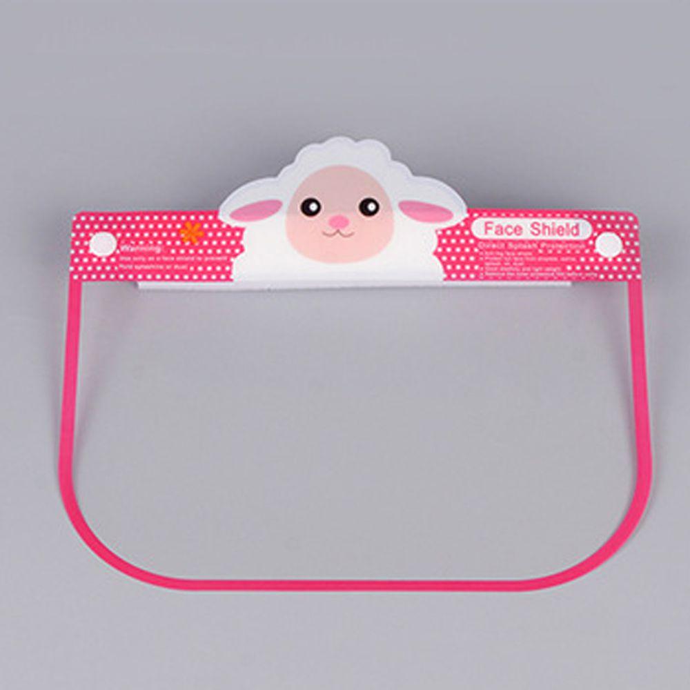 隔離飛沫兒童防護面罩-綿羊-粉色 (約26x18.5cm)