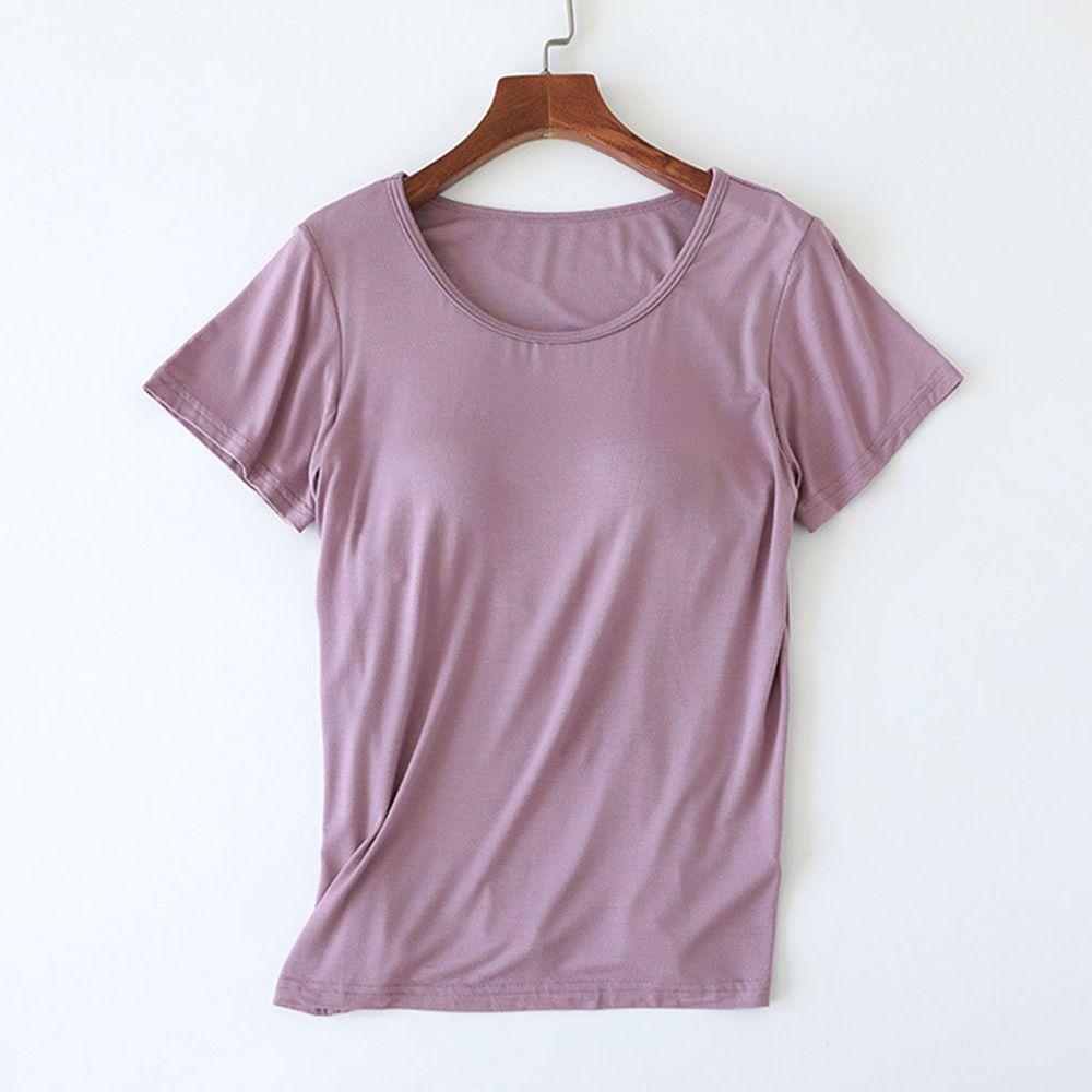 莫代爾柔軟涼感Bra T-紫色