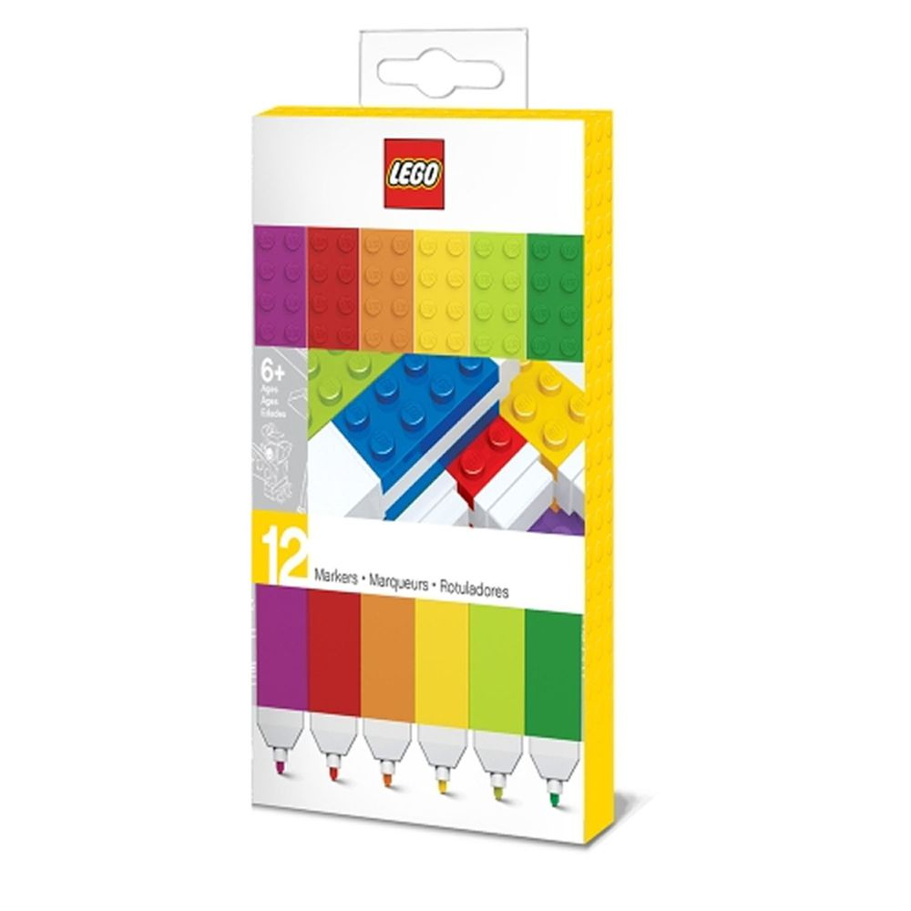 樂高 LEGO - LEGO積木彩色筆混色 (12色)-長約17.9公分