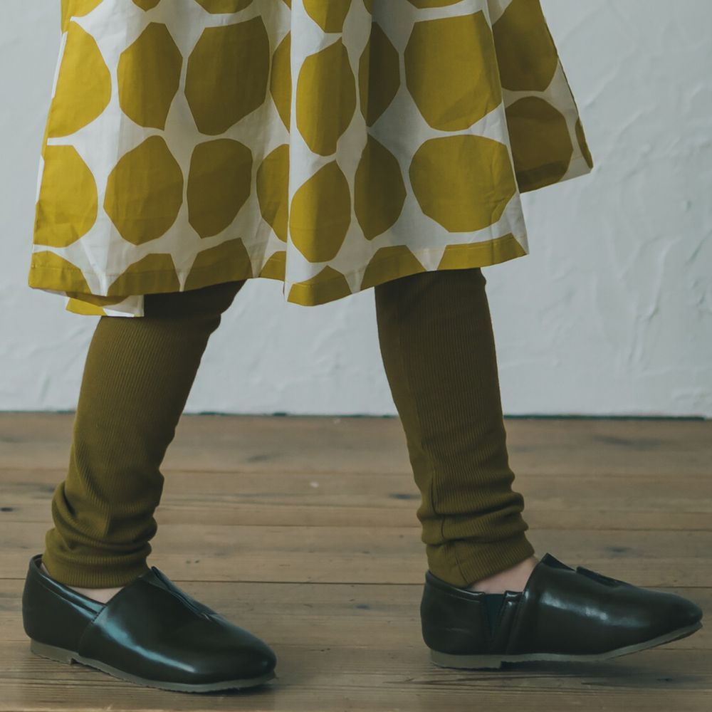 日本 riziere - 羅紋彈性修身內搭褲-卡其棕
