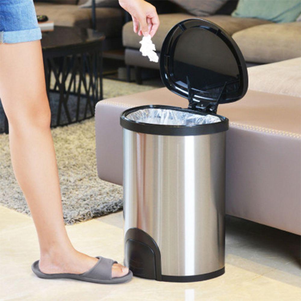 家窩 - 諾曼腳觸感應不鏽鋼垃圾桶25L-25L