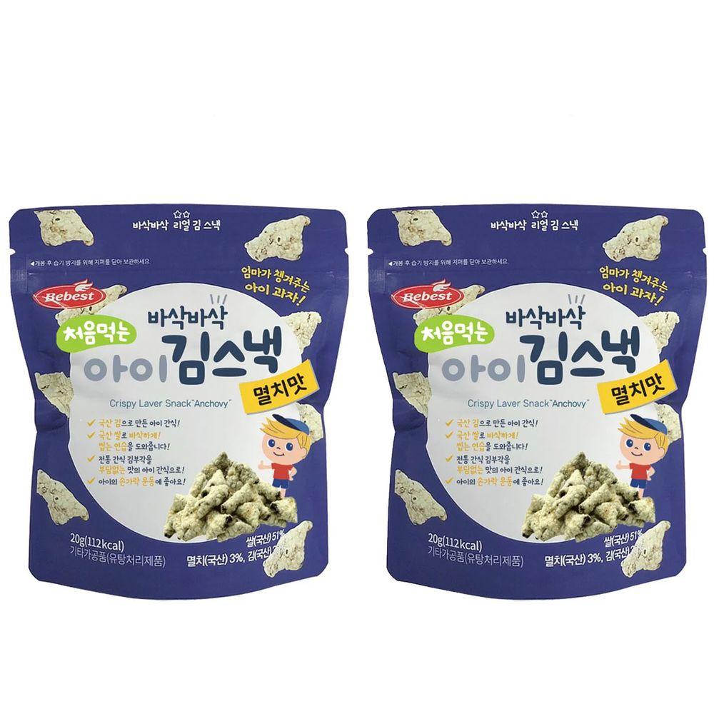 韓國Bebest貝思 - 海苔脆點心2入組-鯷魚*2