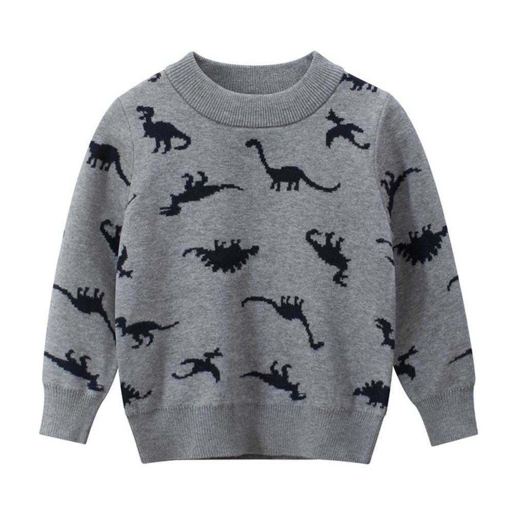 恐龍毛衣-灰色