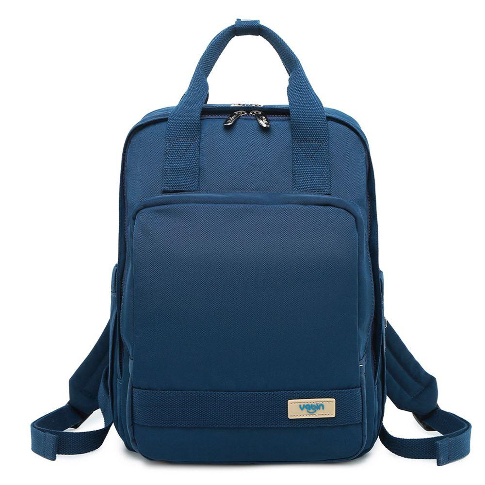 YABIN - 後背媽媽包時尚大容量雙肩包-寶藍