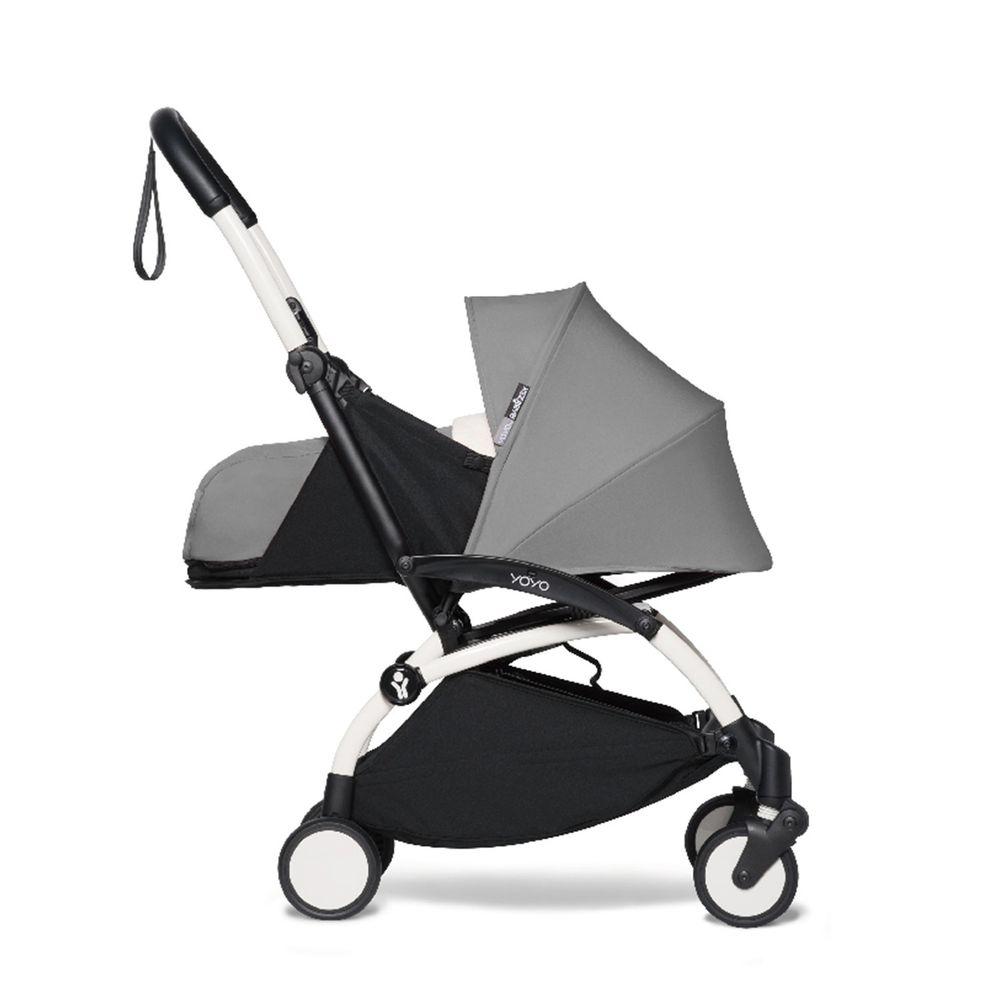 法國BABYZEN YOYO+ - 2020新款秒收可登機手推車含新生兒套件-白管-灰-0m+