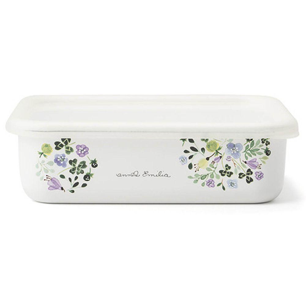 FUJIHORO 富士琺瑯 - 安娜艾米利亞系列-琺瑯烘焙保鮮盒淺型-L-容量:1.35L 重量:0.50kg