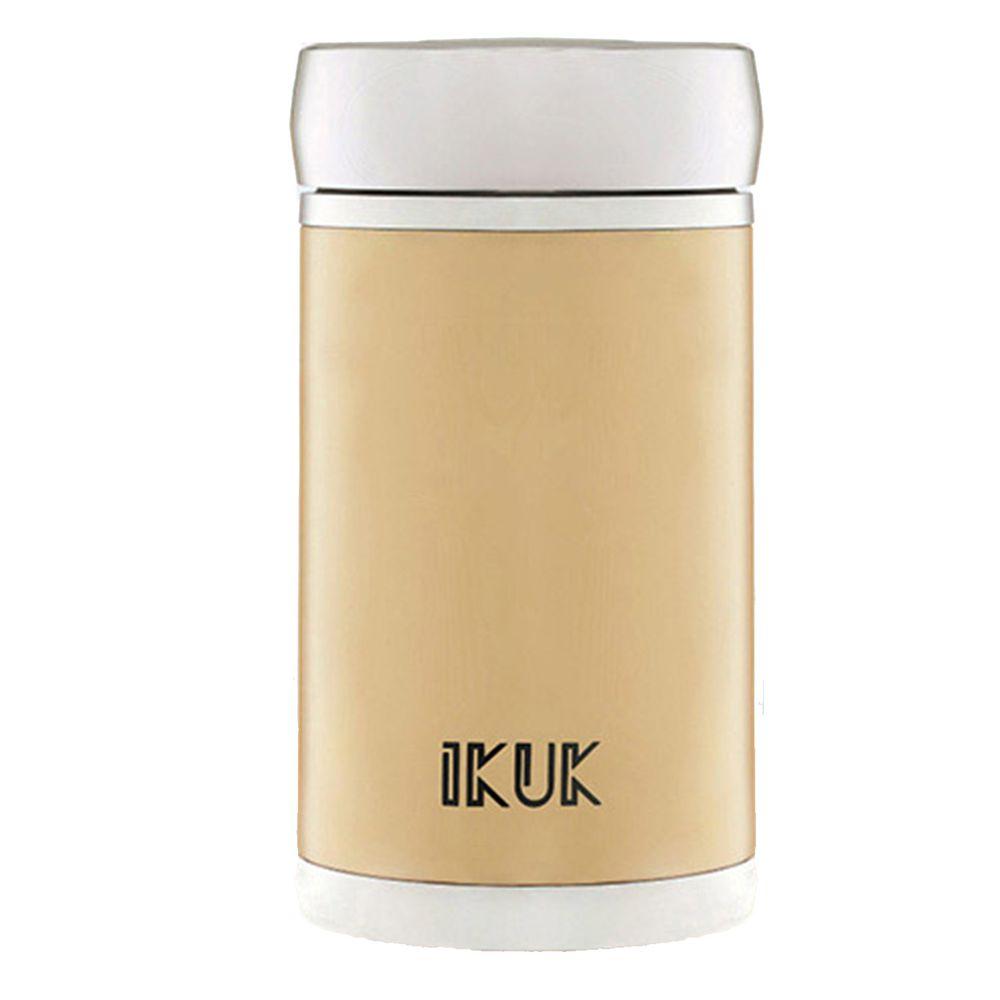 IKUK - 真空雙層內陶瓷保溫超商杯-玫瑰金 (400ML)