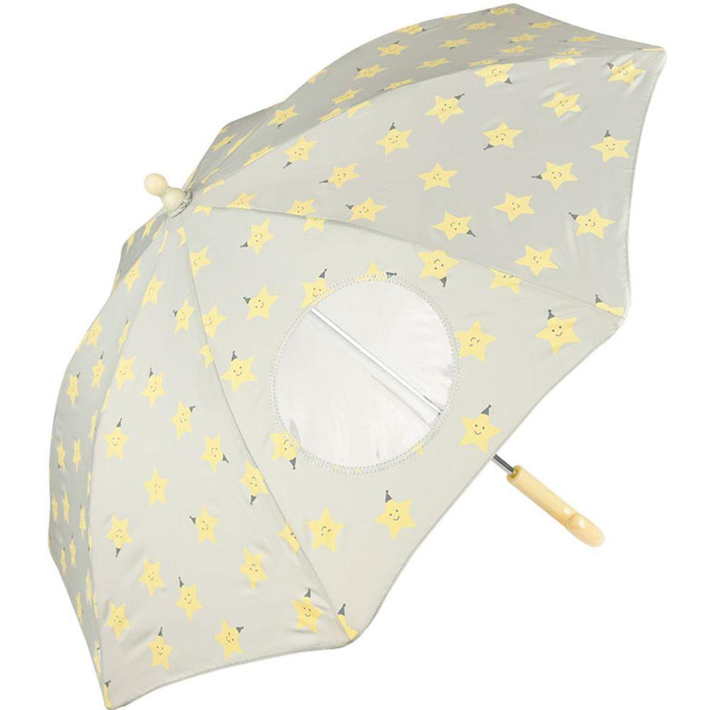 akachan honpo - 透明窗雨傘-星星-灰色