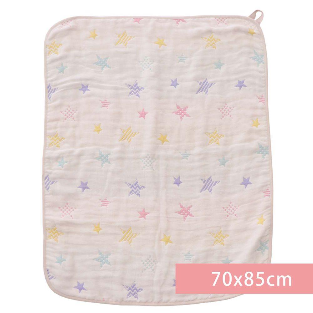 akachan honpo - 多用途6層棉紗被-星星-米白色 (70x85cm)