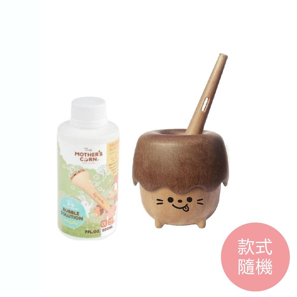 韓國 Mother's Corn - 小木森林兒童泡泡玩具(款式隨機)+不易破泡泡補充罐200ml