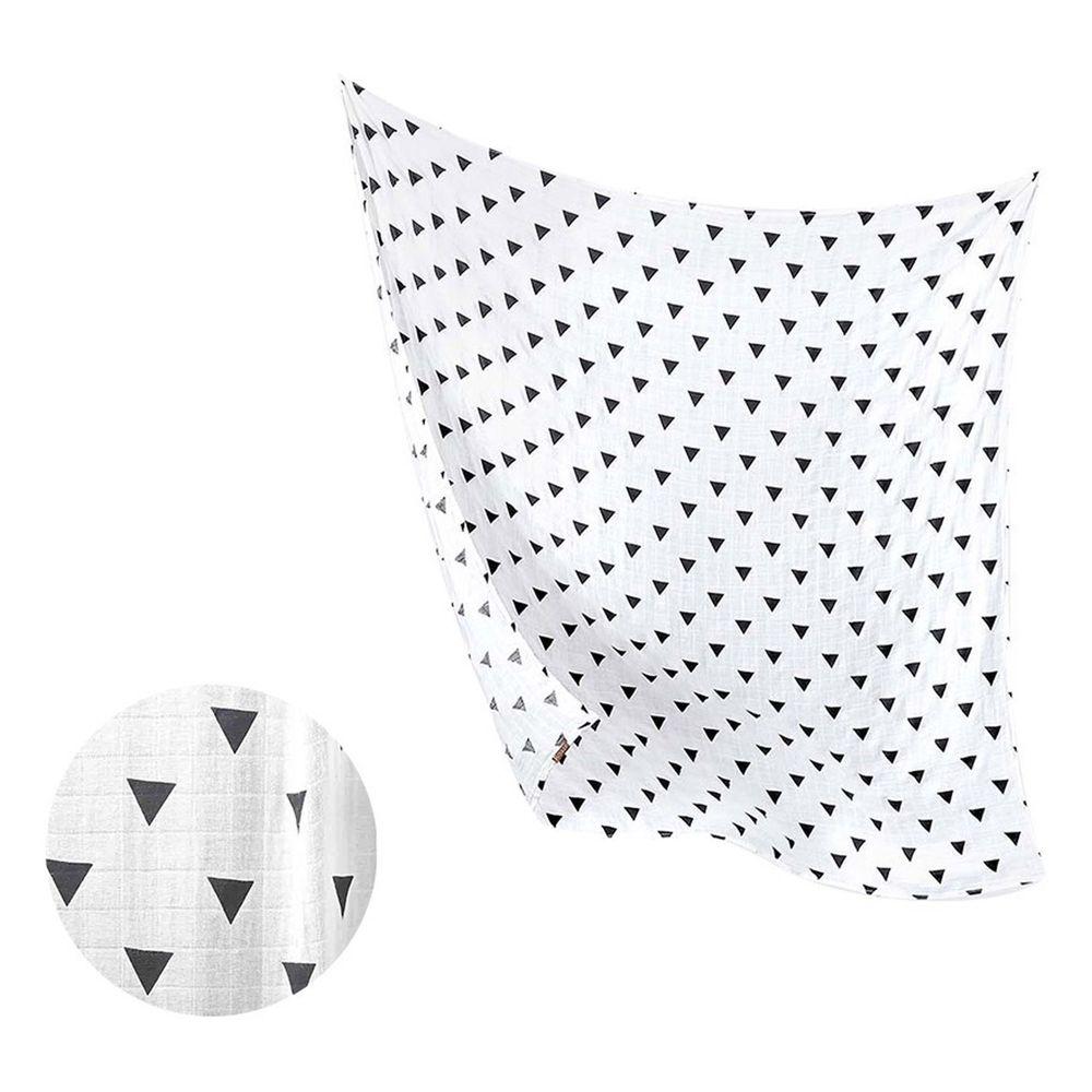 柔仕 - 棉柔紗布包巾毯-魔術三角