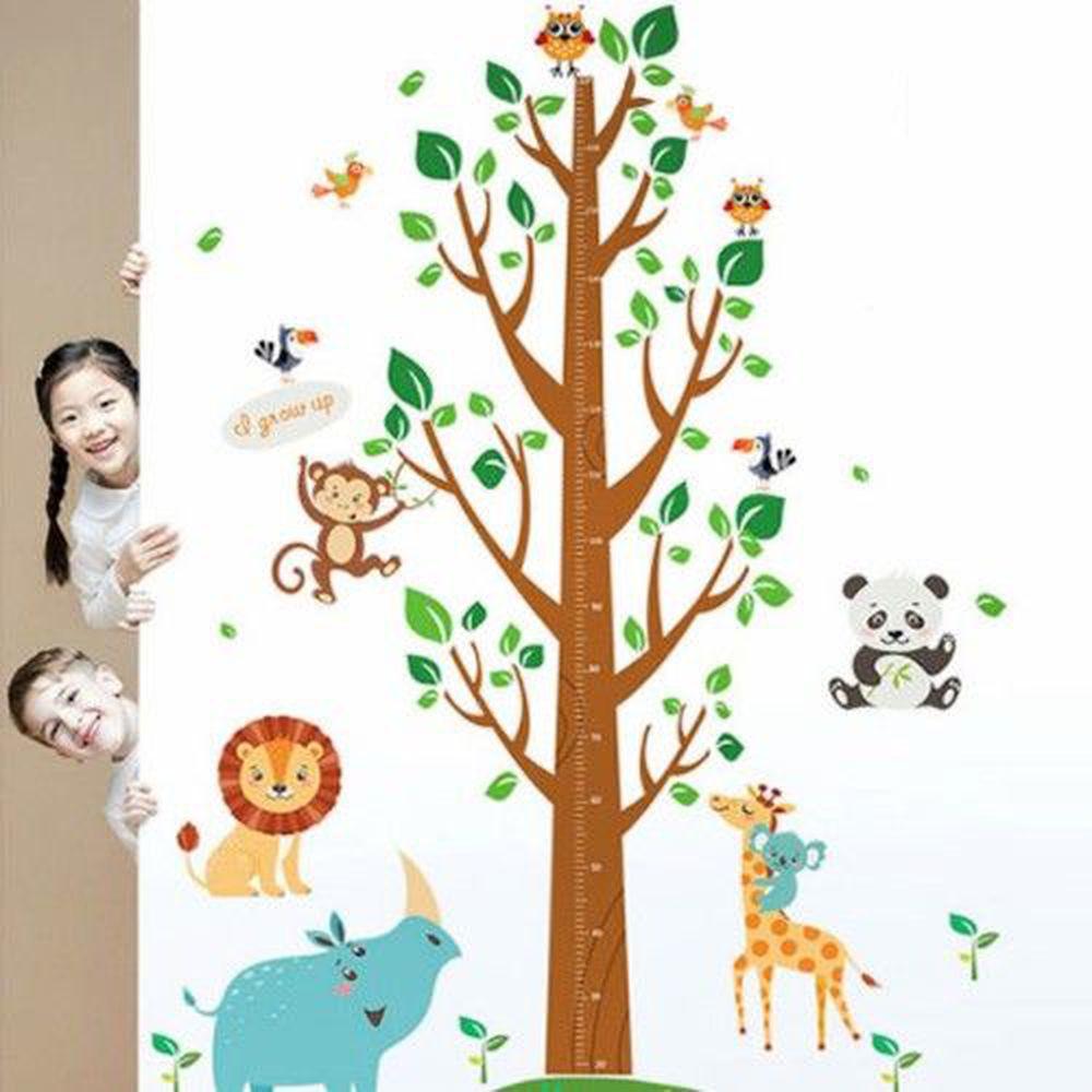 JB Design - 時尚壁貼-森林王國大樹身高貼 (60cm*90cm)