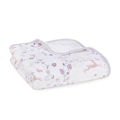 有機棉被毯-粉紫童話