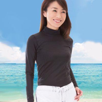 吸水速乾抗UV長袖遮陽衣(可戲水)-黑