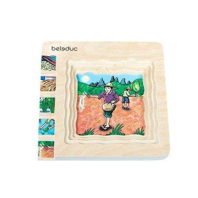 多層木拼圖-稻米
