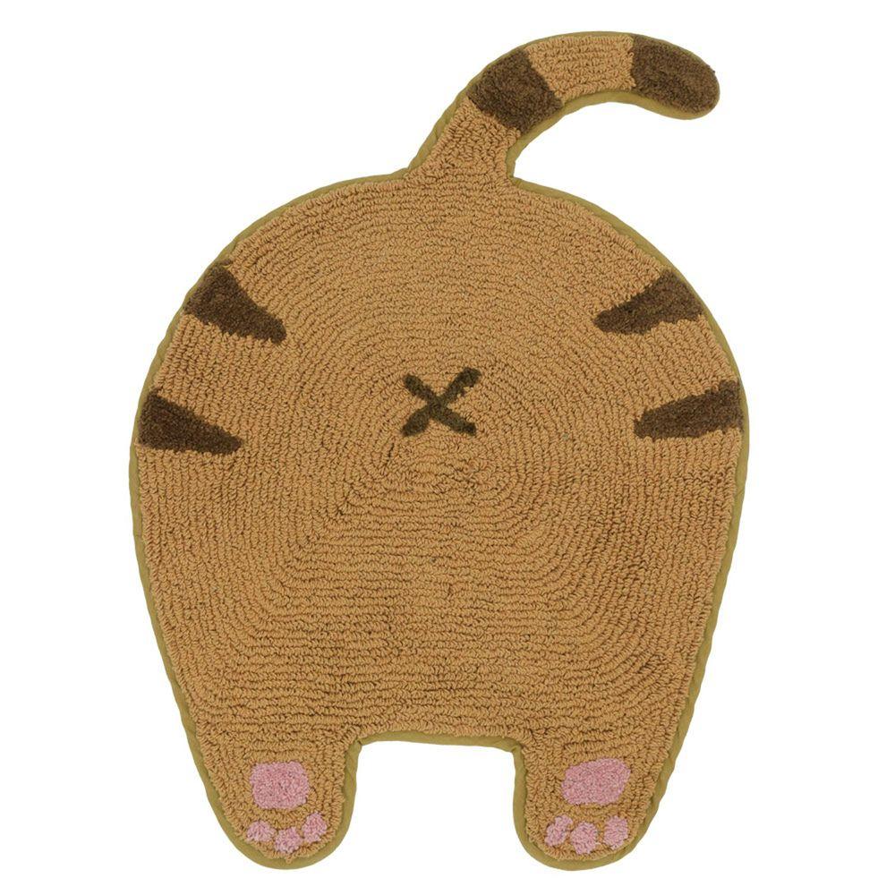 日本 TOMO - 貓咪屁屁肉球腳踏墊-虎斑貓 (約45x59cm)