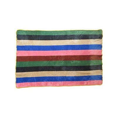 吸濕發熱室內保暖毯-暖色條紋 (L(120x80cm))