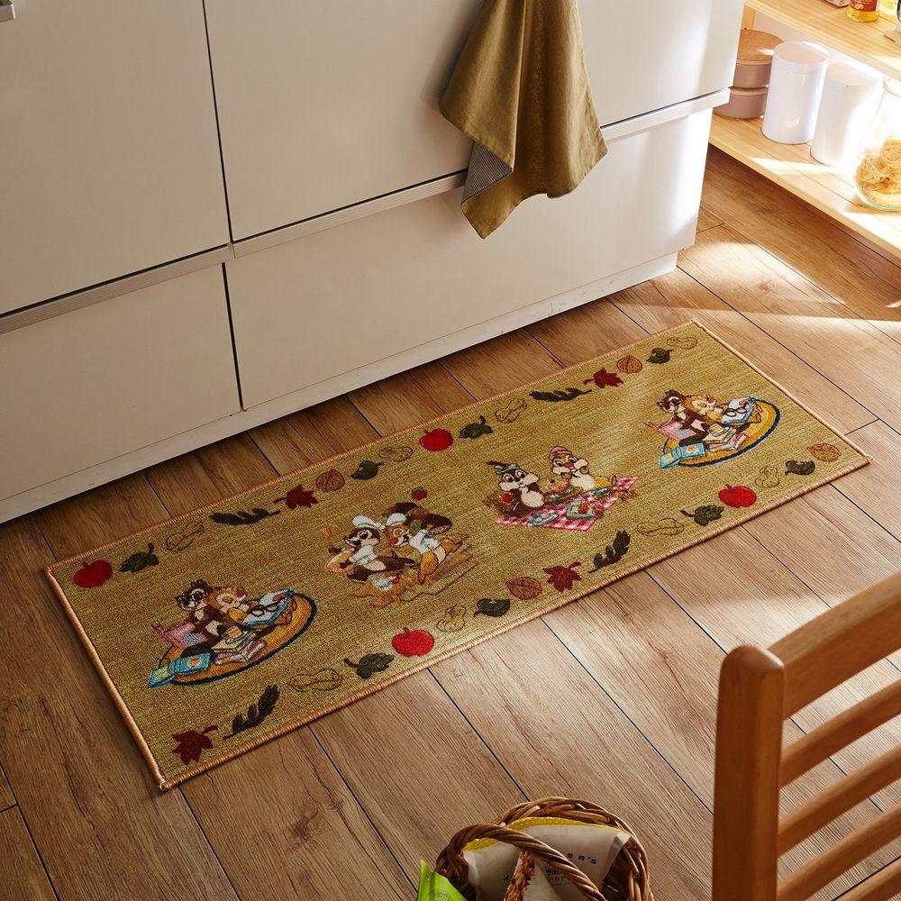 日本千趣會 - 迪士尼 長條型腳踏墊(廚房/臥室)-奇奇蒂蒂玩樂記