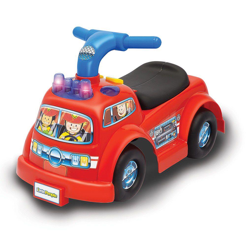 美國Fisher-Price 費雪 - 費雪牌little people 消防車騎乘玩具