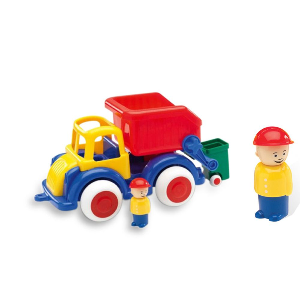 瑞典Viking toys - Jumbo恰克回收車(含2隻人偶)-28cm