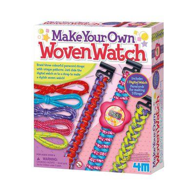 編織絢麗錶帶 Woven Watch-3款錶帶+時鐘1入