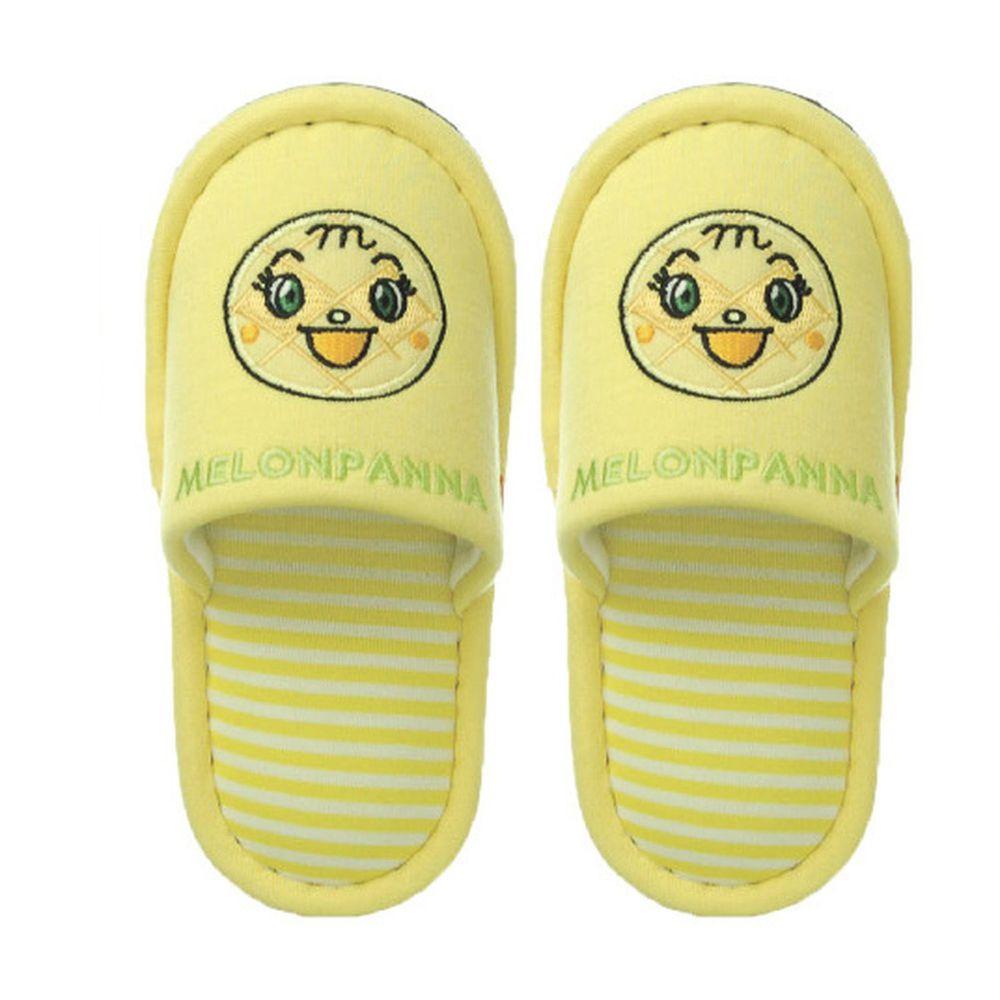 日本千趣會 - 兒童室內拖鞋-菠蘿麵包-黃 (14-16cm)