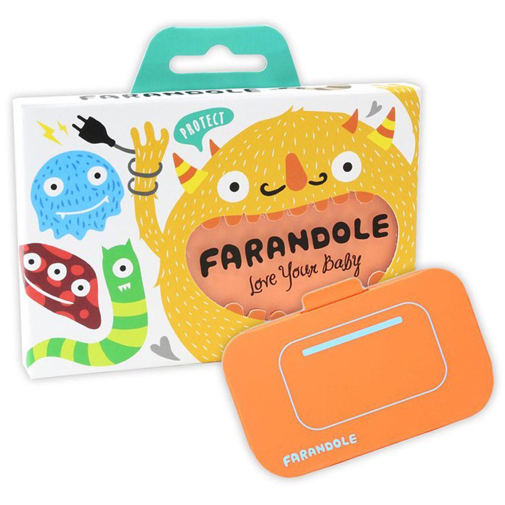 FARANDOLE 法紅荳 - 插座 & 開關安全防護蓋-可愛開關款-橘色