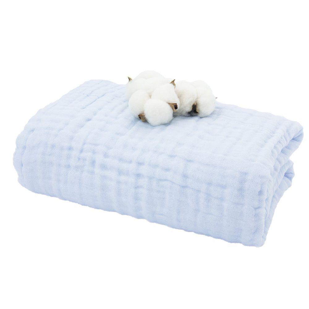 L'ange - 棉之境 6層純棉紗布浴巾/蓋毯-粉藍 (70x120cm)