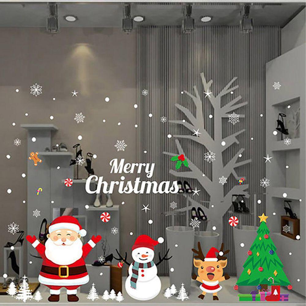 JB Design - 時尚壁貼-聖誕萬歲(靜電貼)AMJ034 (70cm*50cm)