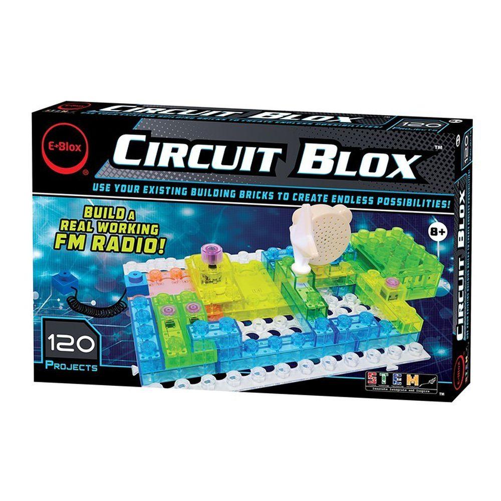 美國 E-Blox - 全能益智聲光積木-變化120(燈台、電風扇、螺旋槳、收音機、音效機)