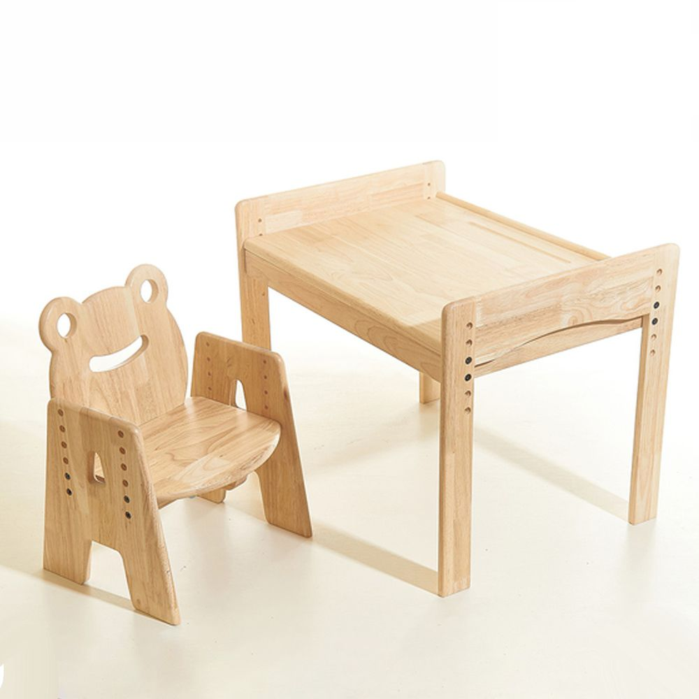 環安家具 - 【加大款】幼兒成長桌椅組/一桌一動物椅-妙妙蛙
