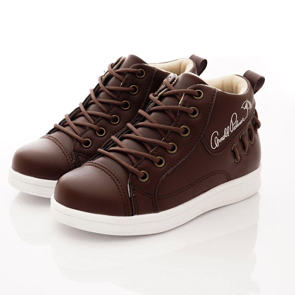Arnold Palmer 雨傘牌 - 專櫃童鞋-簡約皮質短靴專櫃款(中大童段)-咖啡-台碼=尺寸cm