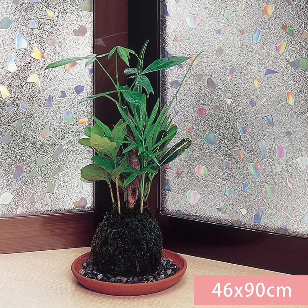 日本千趣會 - 日本製 99%抗UV光影窗貼(靜電式)-歐洛拉碎片