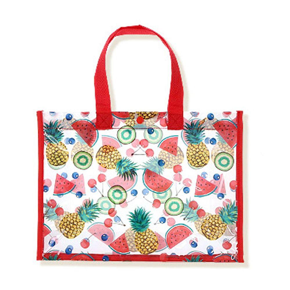 日本 ZOOLAND - 防水PVC手提袋/游泳包-F水果天堂-紅 (25x34x11cm)
