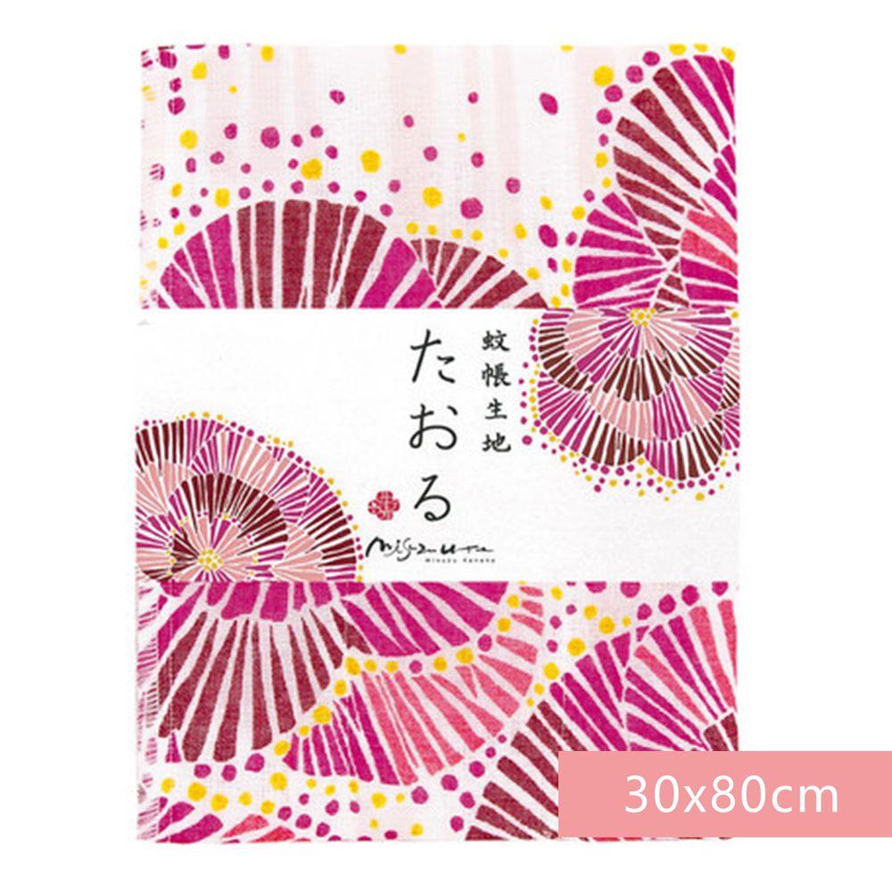日本代購 - 【和布華】日本製奈良五重紗 長毛巾-花火 (30x80cm)