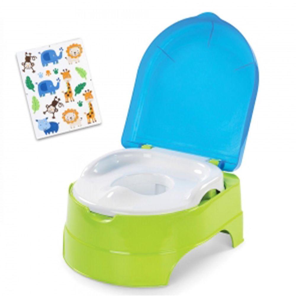 Summer Infant - 3合1兒童馬桶練習組-藍綠