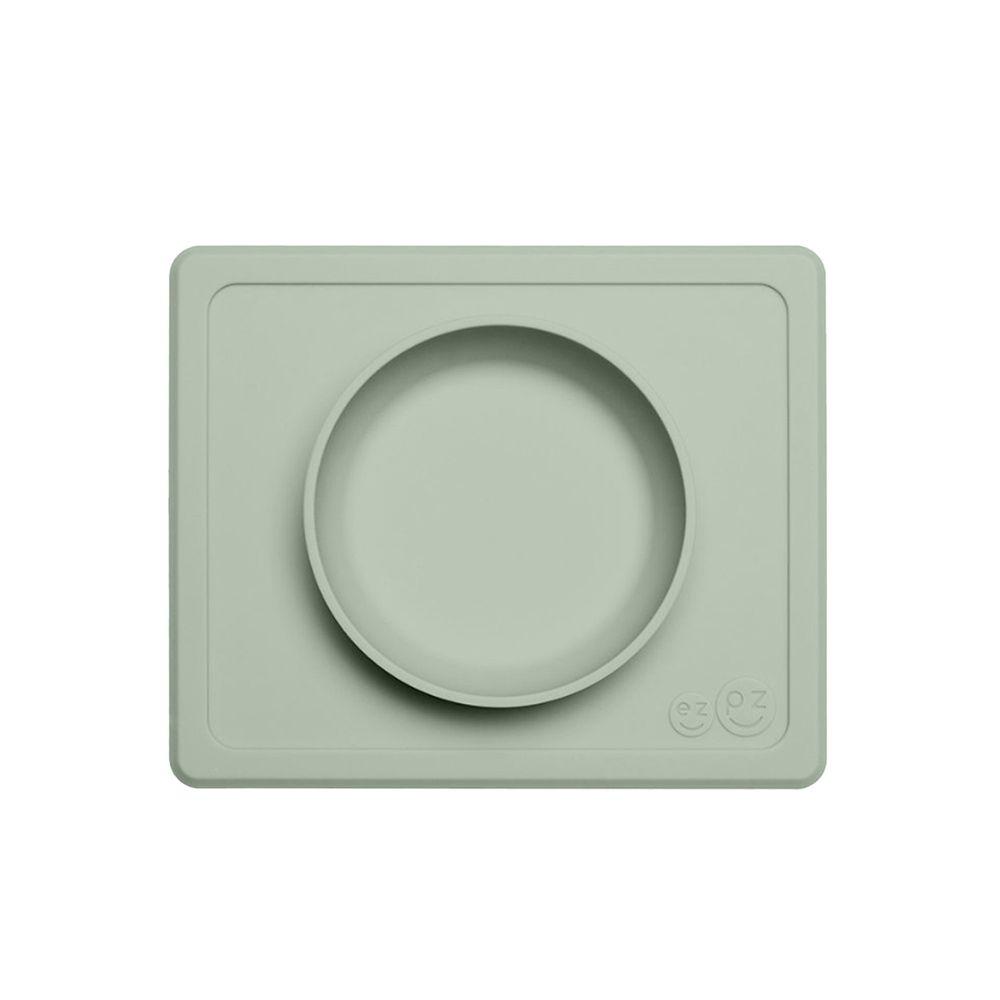 美國 ezpz - 快樂餐碗 Happy Mini bowl-迷你餐碗-抹茶綠 (21.6cm*17.8cm*3.18)-240ml