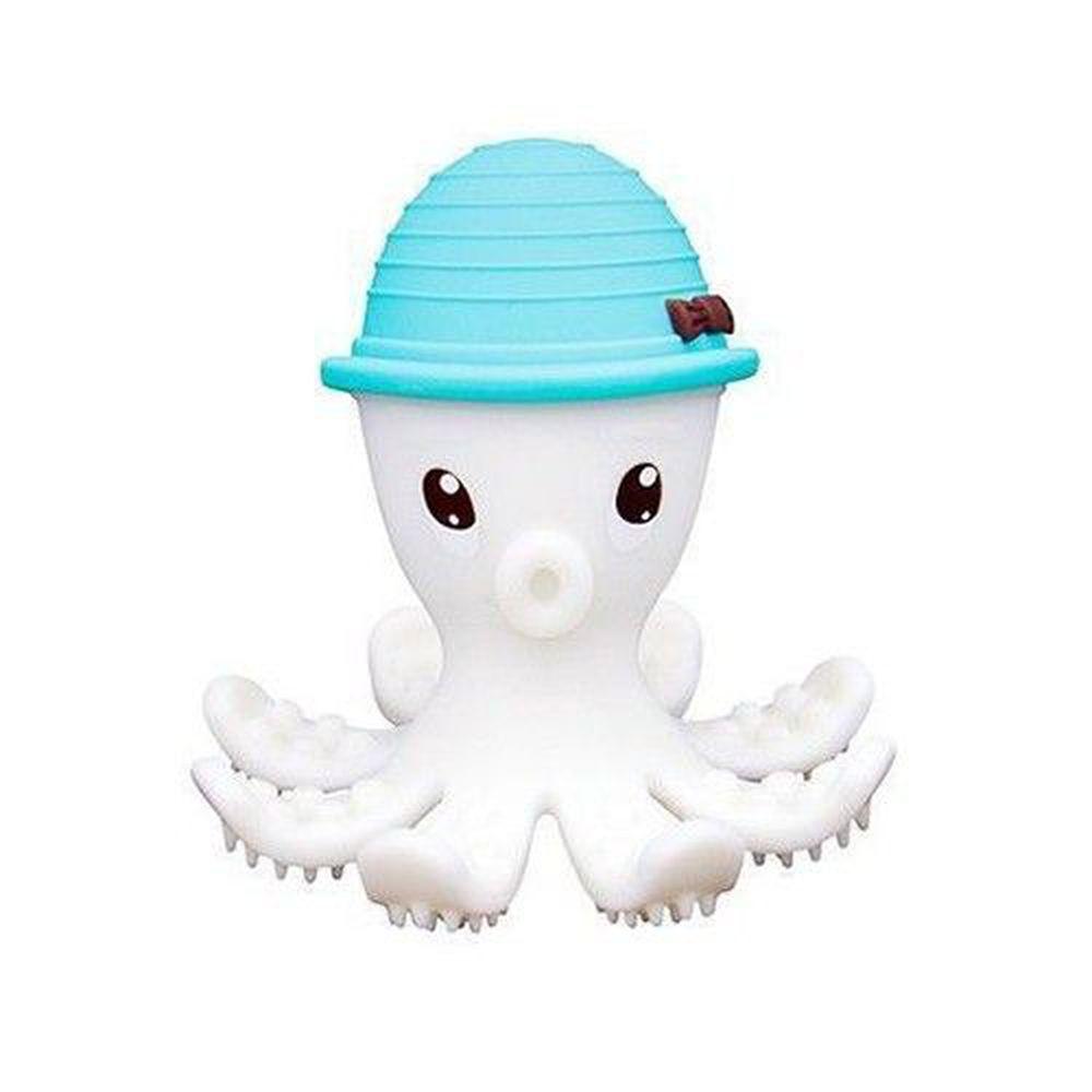 英國 mombella - 樂咬咬章魚固齒器-藍色