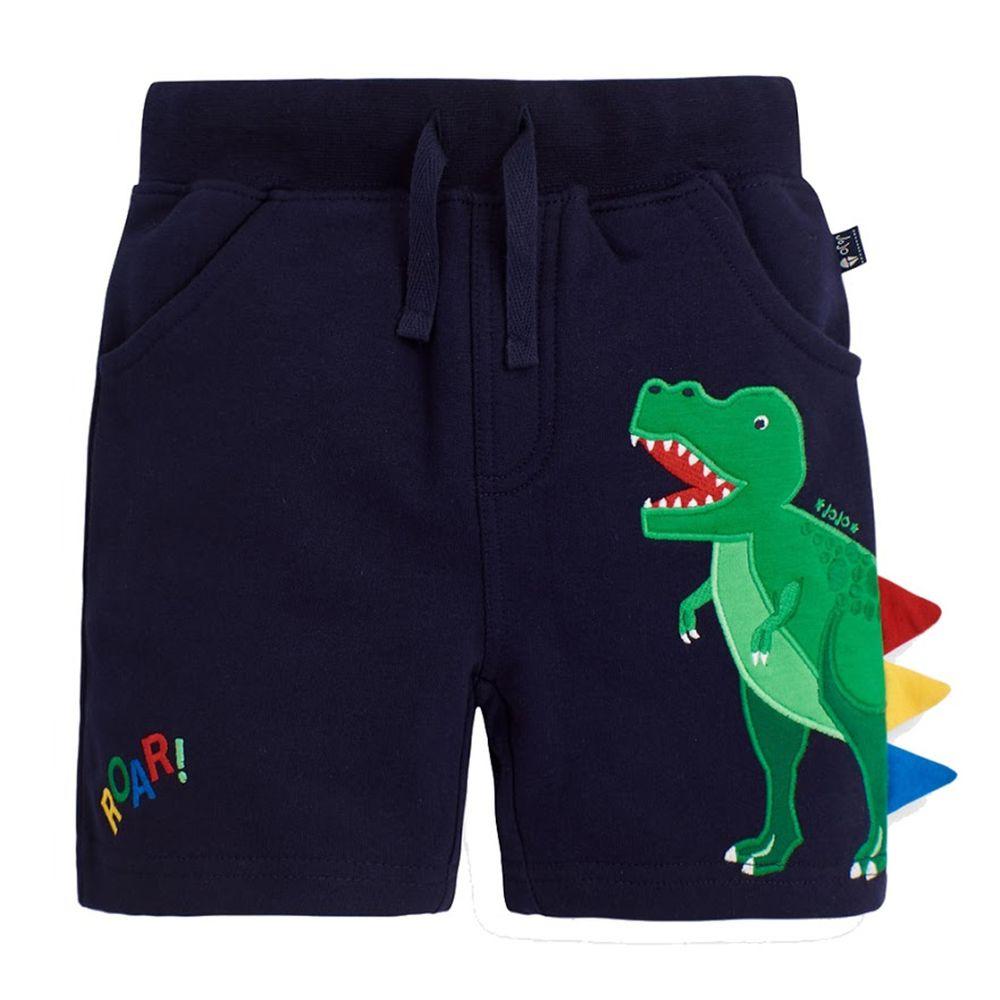 英國 JoJo Maman BeBe - 超優質嬰幼兒/兒童100% 純棉綁繩短褲-恐龍來了