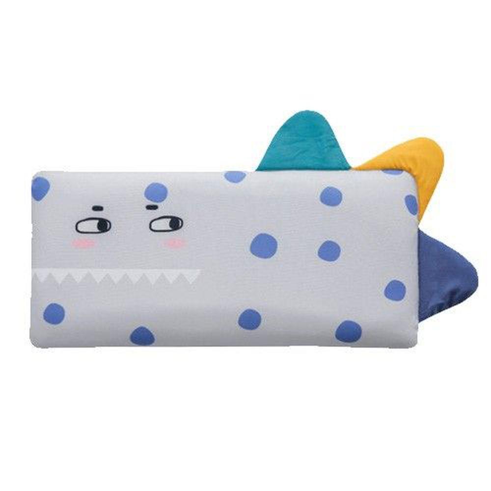 韓國 Bonitabebe - 3D Air Mesh 三段式可調高兒童涼枕-點點恐龍 (59*29cm)-3D Air Mesh填充枕3個+枕頭套1個