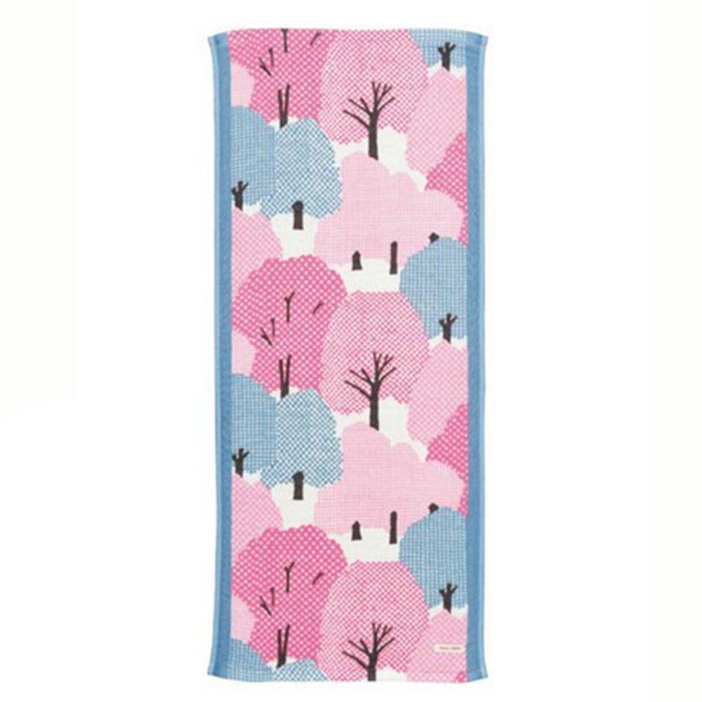 日本代購 - 【SOU·SOU】日本製今治純棉長毛巾-糺之森 (34x80cm)