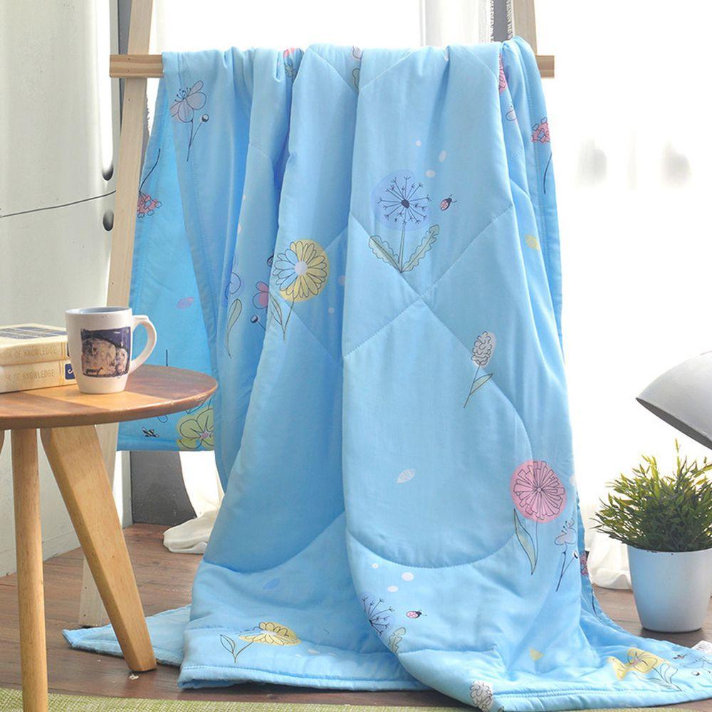 MIGRATORY 媚格德莉 - 竹岱爾涼感抑菌水洗涼被-飄飄花舞-藍 (150x186cm)