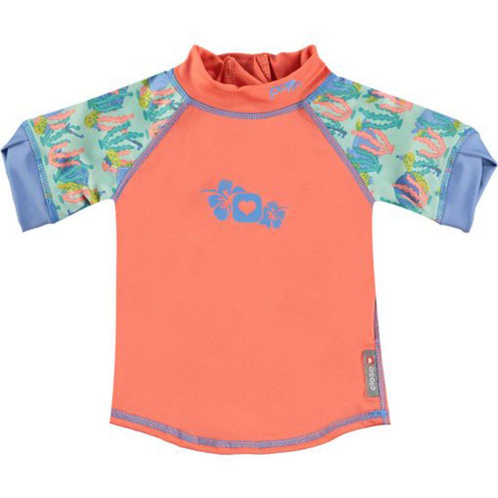 英國Pop-in - 嬰兒抗UV防曬泳衣-海龜