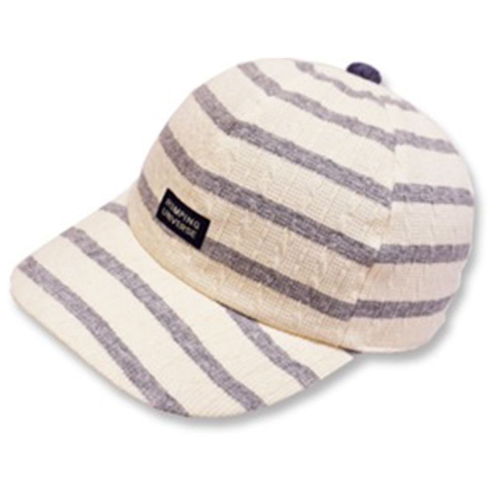日本 ROMPING UNIVERSE - 條紋棒球帽-小童款-灰色-03-2012