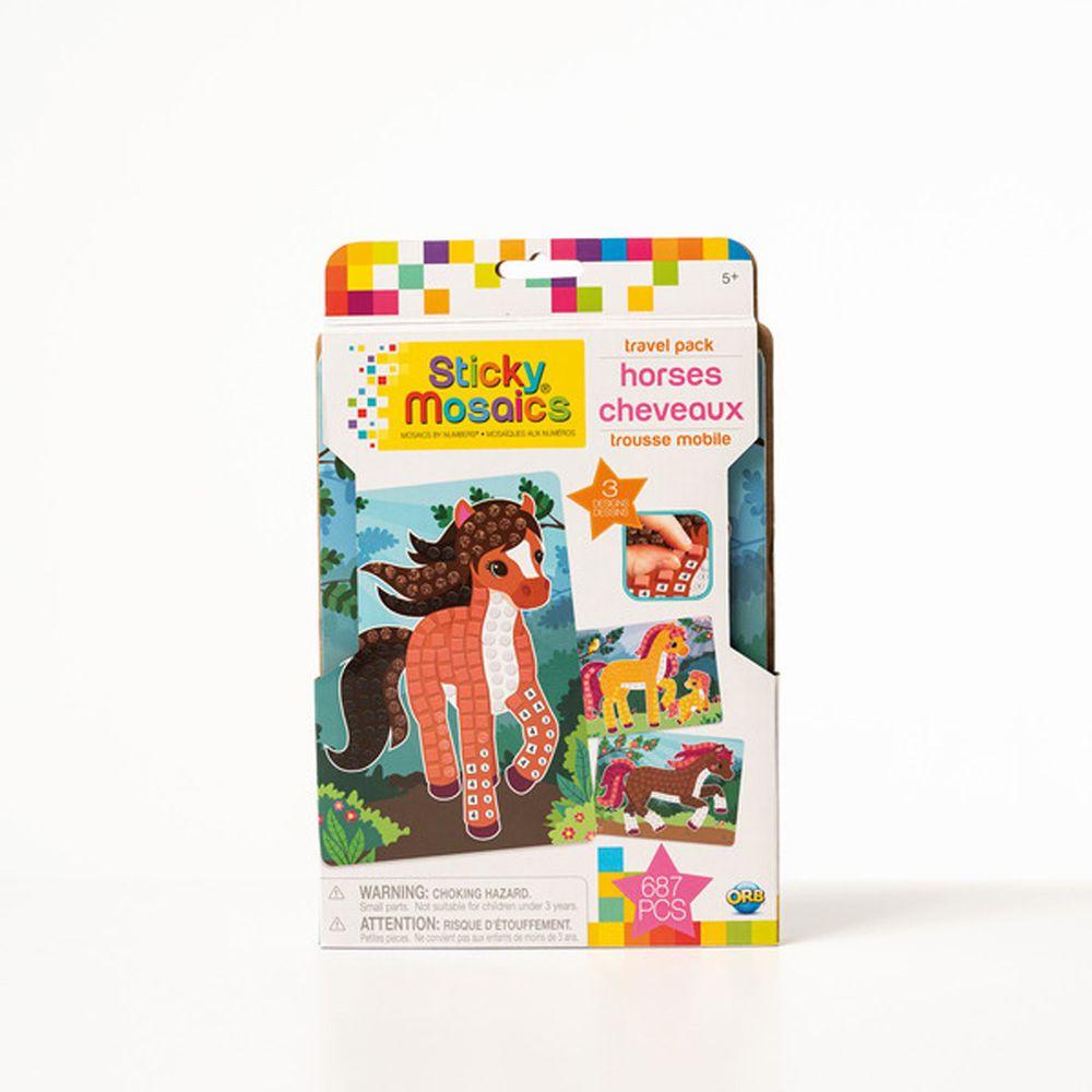加拿大 Sticky Mosaics - 馬賽克拼貼旅遊包-駿馬-687 pcs