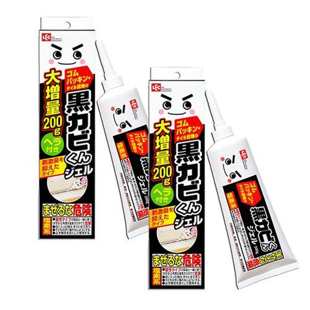 日本 LEC - 黑霉君除霉凝膠200g附刮板2入組-200g x 2支