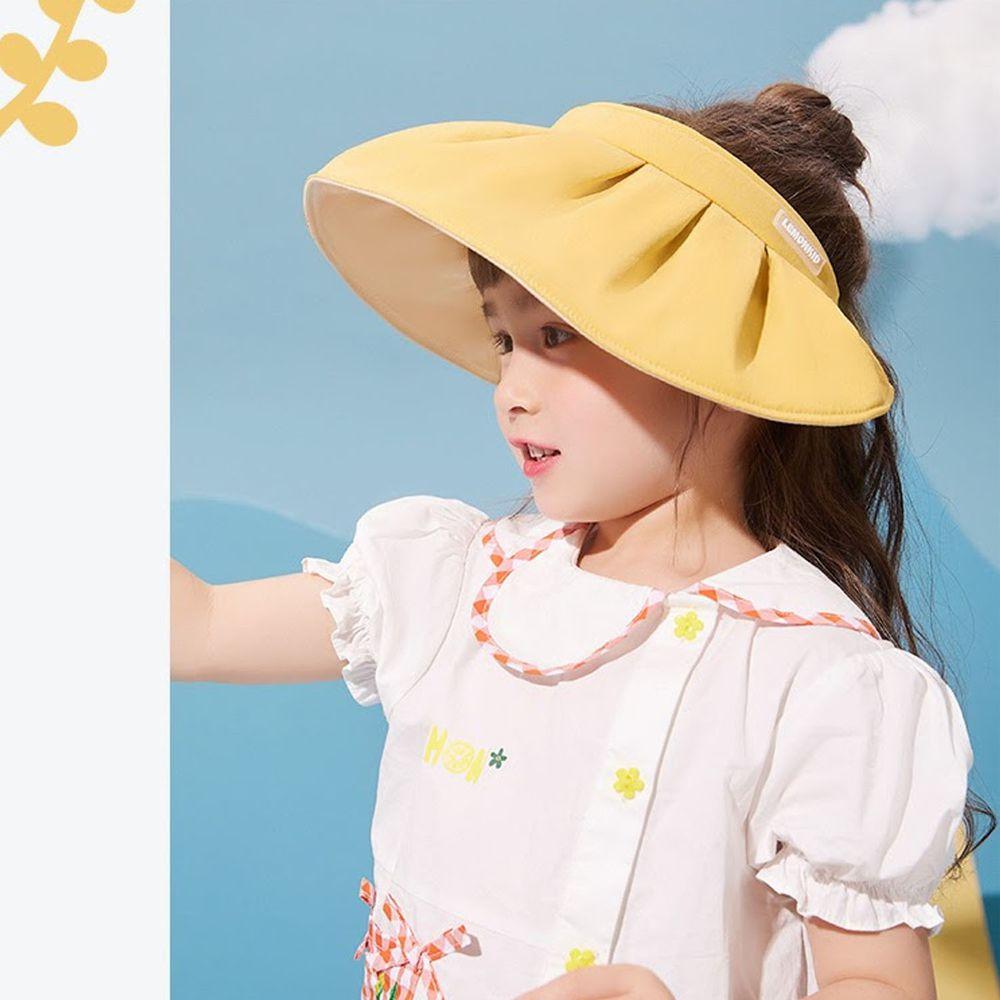 韓國Lemonkid - 空頂貝殼帽(二用)-銀杏黃