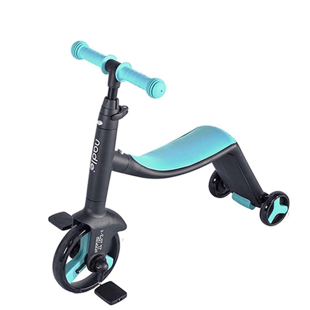 奧地利Nadle - 三合一多功能三輪滑步/板車-藍色