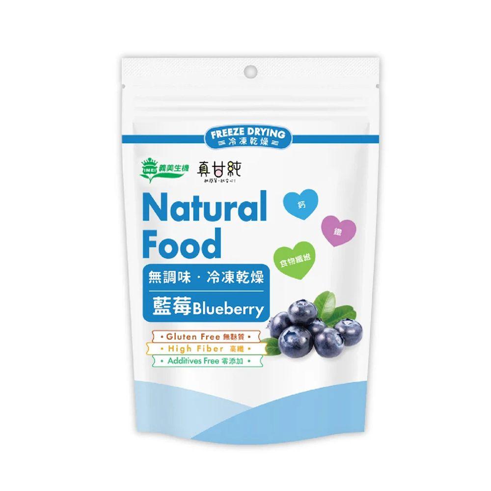 義美生機 - 真甘純 藍莓 (冷凍乾燥果乾)-18g/夾鏈袋